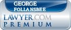 George Little Follansbee  Lawyer Badge