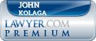 John Theodore Kolaga  Lawyer Badge