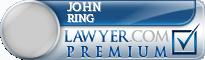 John Henry Ring  Lawyer Badge