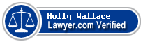 Holly Salop Wallace  Lawyer Badge