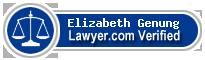 Elizabeth Arlene Genung  Lawyer Badge