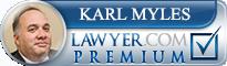 Karl Martin Myles  Lawyer Badge