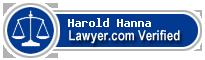 Harold Moor Hanna  Lawyer Badge