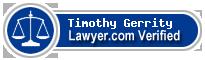 Timothy Dean Gerrity  Lawyer Badge