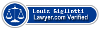 Louis John Gigliotti  Lawyer Badge