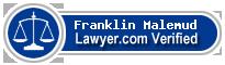 Franklin Craig Malemud  Lawyer Badge