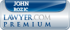 John William Rozic  Lawyer Badge