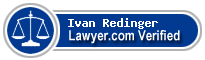 Ivan Lenwood Redinger  Lawyer Badge