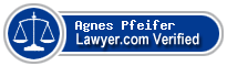 Agnes Anna Pfeifer  Lawyer Badge