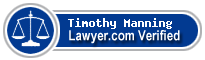 Timothy Edward Manning  Lawyer Badge