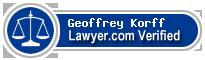 Geoffrey David Korff  Lawyer Badge