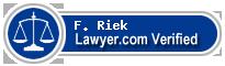F. Benjamin Riek  Lawyer Badge