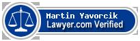 Martin Edward Yavorcik  Lawyer Badge