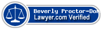 Beverly Paulette Proctor-Donald  Lawyer Badge