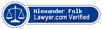 Alexander Root Folk  Lawyer Badge