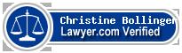 Christine Marie Bollinger  Lawyer Badge
