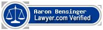 Aaron Lee Bensinger  Lawyer Badge