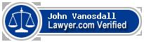John Arthur Vanosdall  Lawyer Badge