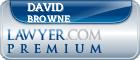 David Joseph Browne  Lawyer Badge