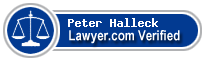 Peter Terry Halleck  Lawyer Badge