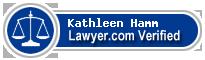 Kathleen Marie Hamm  Lawyer Badge