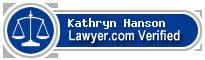 Kathryn Elizabeth Maxine Hanson  Lawyer Badge