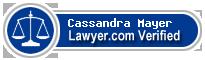 Cassandra Joan Mayer  Lawyer Badge