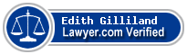 Edith Ann Gilliland  Lawyer Badge