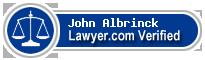 John Jeffrey Albrinck  Lawyer Badge