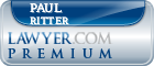 Paul Frederick Ritter  Lawyer Badge