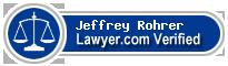 Jeffrey Howard Rohrer  Lawyer Badge