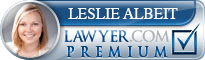 Leslie Ann Albeit  Lawyer Badge