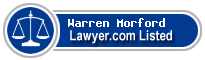 Warren Morford Lawyer Badge