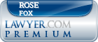 Rose Marie Fox  Lawyer Badge