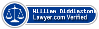 William Robert Biddlestone  Lawyer Badge