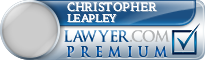 Christopher David Leapley  Lawyer Badge