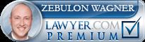 Zebulon Wagner  Lawyer Badge