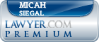 Micah M. Siegal  Lawyer Badge