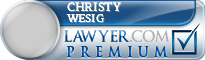Christy Lorraine Wesig  Lawyer Badge