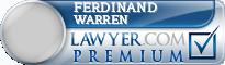 Ferdinand Edward Warren  Lawyer Badge