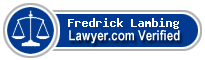 Fredrick David Lambing  Lawyer Badge