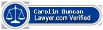 Carolin Anne Duncan  Lawyer Badge