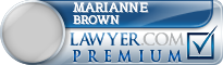 Marianne E. Brown  Lawyer Badge