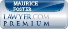 Maurice Foster  Lawyer Badge