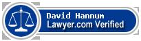 David Winfield Hannum  Lawyer Badge