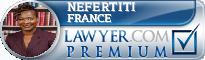 Nefertiti France  Lawyer Badge
