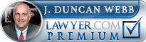 J. Duncan Webb  Lawyer Badge