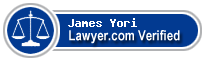 James August Yori  Lawyer Badge