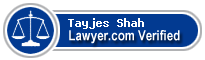 Tayjes Matthew Shah  Lawyer Badge