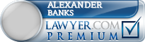 Alexander William Banks  Lawyer Badge